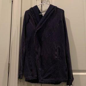 Free People Blue Cardigan Sweater